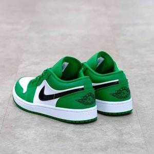  Air Jordan 1 low pin green